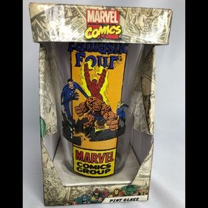Marvel comics fantastic four glass